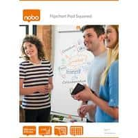 Nobo Squared Flipchart Pads Perforated A1 60gsm Gridded 40 Sheets