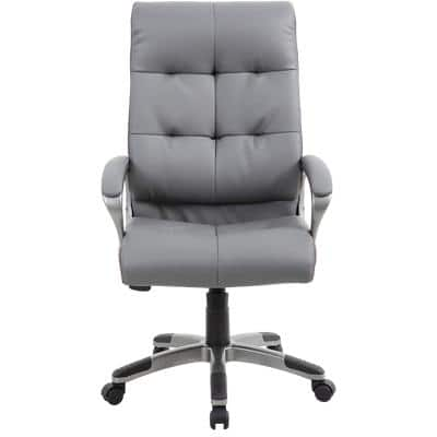 Realspace Executive Chair Maine Bonded leather Grey