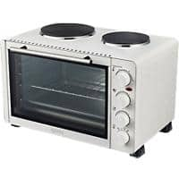 igenix Mini Oven Double Hotplates IG7130 1500W White