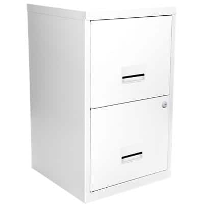 Pierre Henry Filing Cabinet with 2 Lockable Drawers Maxi 400 x 400 x 660mm White