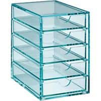 Osco Drawer Set Glass Effect Acrylic Clear 8.8 x 13.1 x 13.5 cm