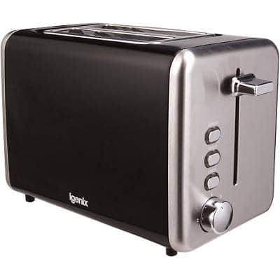 igenix Toaster 2 Slices Stainless Steel IG3000B 715-850W Black