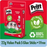 Pritt Glue Stick 22g Value Pack 5 + 1 Free