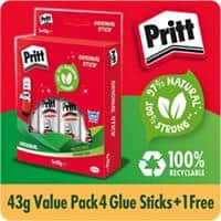 Pritt Glue Stick Transparent 43 g 4+1 Free
