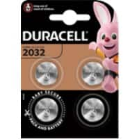 Duracell Button Cell Batteries CR2032 3V Lithium Pack of 4