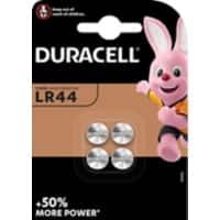 Duracell Button Cell LR44 Batteries 4LR44 1.5V Alkaline 4 Pieces
