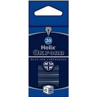 OXFORD Ink Cartridge Refills Blue 20 Pieces