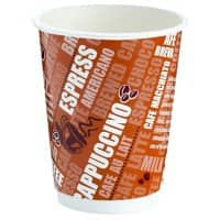 Cups 340 ml Brown 24 Pieces