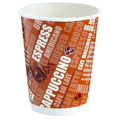 Disposable Cups Paper 340ml Brown 24 Pieces