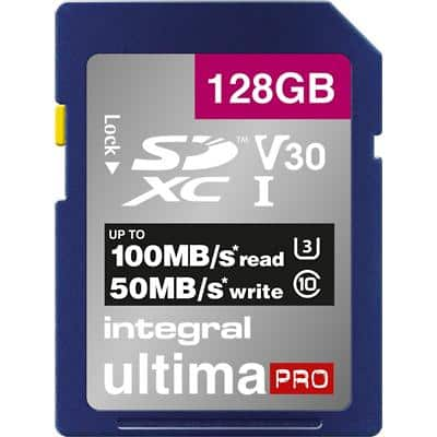 Integral SDXC Flash Memory Card UltimaPRO V30 128 GB