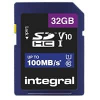 Integral SDHC Flash Memory Card V10 32 GB