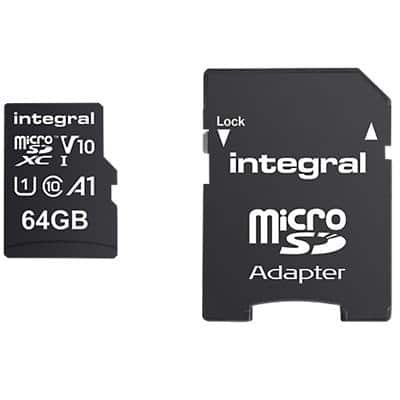 Integral Micro SDXC Flash Memory Card V10 64 GB