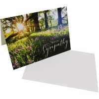 Greeting Card Sympathy White 6 Pieces