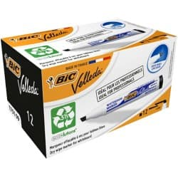 Bic Velleda 1751 Whiteboard Marker - Chisel Point Black - Pack of 12