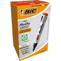 BIC Marking 2000 Permanent Marker Medium Bullet Red Pack of 12