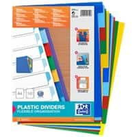 ELBA Dividers 100205063 A4 Assorted 10 Part Not perforated Polypropylene Blank
