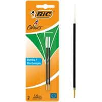 BIC Ballpoint Pen Refill 4 Colours 0.4 mm Green 2 Pieces