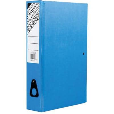 Centurion Classic Box File Foolscap 70 mm Blue 10 Pieces