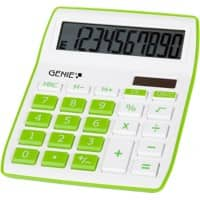 GENIE Desktop Calculator 840 G 10 Digit Display Green