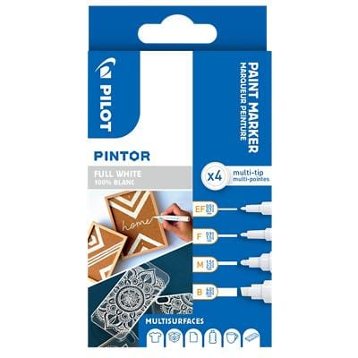 Pilot Pintor Paint Marker Broad White Pack of 4