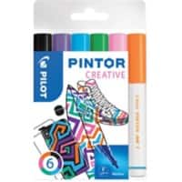 Pilot Pintor Creative Paint Markers 1 mm Assorted 6 Pieces