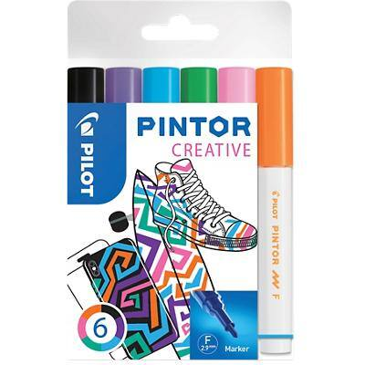 Pilot Pintor Creative Paint Marker Fine Bullet Assorted Pack of 6