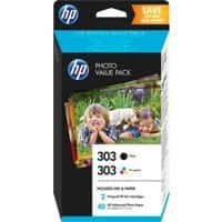 HP 303 Original Ink Cartridge Z4B62EE Black, Cyan, Magenta, Yellow 2 Pieces