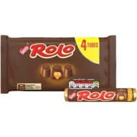 Nestlé Rolo Chocolate Caramel Multipack, No Artificial Colours, Flavours or Preservatives 41.6g 4 Pieces