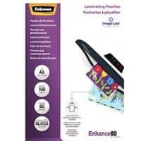 Fellowes Laminating Pouches Glossy 2 x 80 (160) Micron A5 Pack of 100