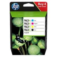 HP 963XL Original Ink Cartridge 3YP35AE Black,Cyan,Magenta,Yellow 4 Pieces