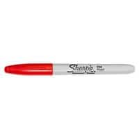 Sharpie Fine Permanent Marker Fine Bullet Red Pack of 12