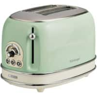 Ariete Toaster 2 Slices Stainless Steel Vintage 810W Green