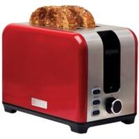 HADEN Toaster 2 Slice Stainless Steel Jersey 930W Red