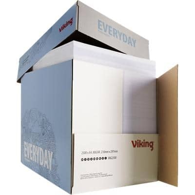 Viking Everyday Copy Paper A4 80gsm White Quickbox of 2500 Sheets