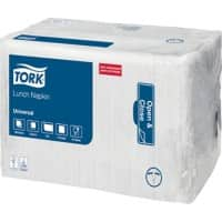 Tork Lunch Napkins 32.5 x 32.5cm White 8 Pieces of 500 Sheets