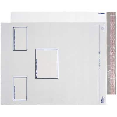 Blake White Polythene Mailing Bag Peel and Seel 450x525mm Pack 100