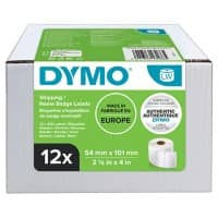 DYMO Shipping/Name badge Labels Shipping Label White 101 x 54 mm 12 Rolls of 220 Labels