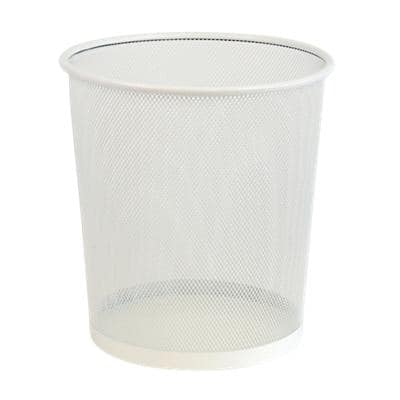 Office Depot Waste Bin White 15 L Wire Mesh 26 x 26 x 28 cm