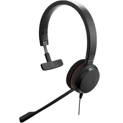 Jabra Evolve 20SE MS Mono Wired Headset Black