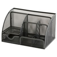 Office Depot Desk Organiser Wire Mesh Black 22.2 x 14 x 12.8 cm
