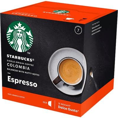 NESCAFÉ Dolce Gusto Starbucks Coffee Colombia Medium Roast Espresso 12 Pieces of 5.5 g