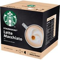 NESCAFÉ Dolce Gusto Starbucks Latte Macchiato Coffee Capsules Pack of 12