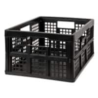 Really Useful Boxes Crate 68503700 Black Polypropylene Folding, No Lid Available 47.5 x 34.5 x 23.5 cm 5 Pieces