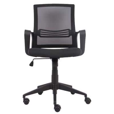 Niceday Basic Tilt Office Chair with Armrest and Adjustable Seat Espoo Black