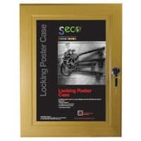 Stewart Superior Wall Mountable Lockable Poster Case 93 x 128 cm Light Wood