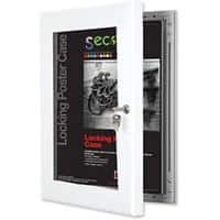 Stewart Superior Wall Mountable Lockable Poster Case 68 x 93 cm White
