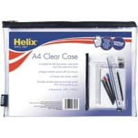 Helix Pencil Case 33 x 24 cm Clear 6 Pieces
