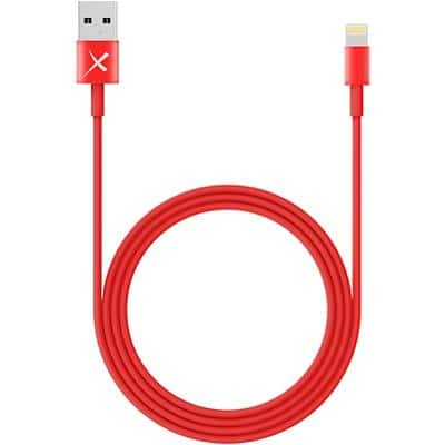 XLAYER 214089 1 x USB A Male to 1 x Apple Lightning Male Charging & Sync Cable 1m Red