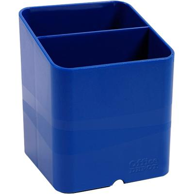 Office Depot Pen Pot Blue 7.4 x 7.4 x 9.3 cm