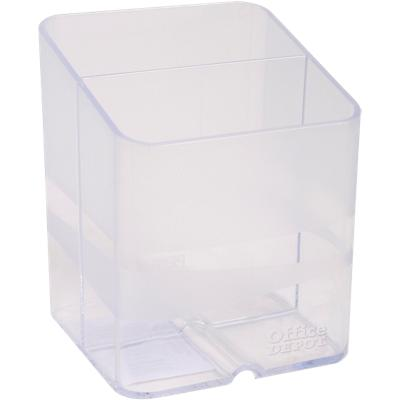 Office Depot Pen Pot Clear 7.4 x 7.4 x 9.3 cm
